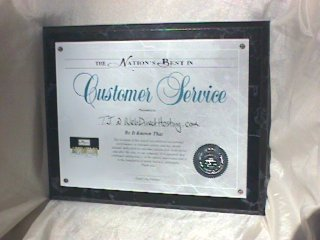 Nations best In Customer Service Award